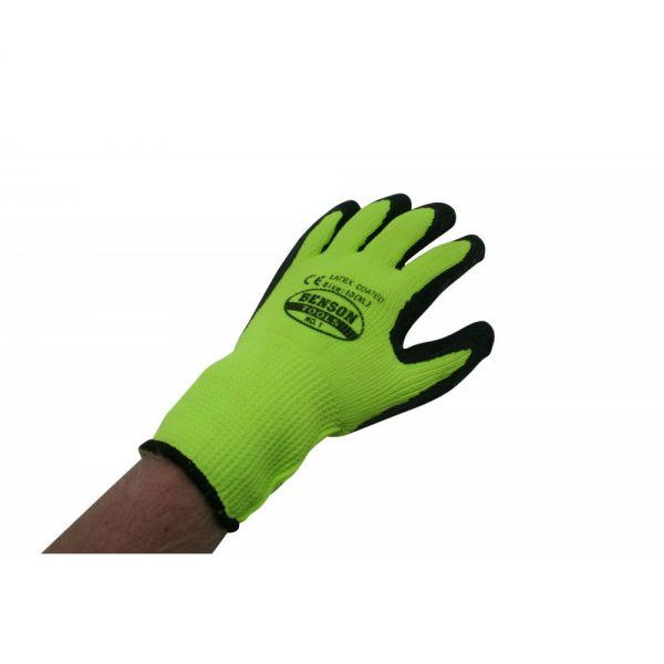 1 Paar Rigger Handschuhe Winter Latex beschichtet, (XL)